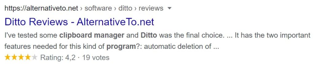 Ditto Clipboard Manager Reviews