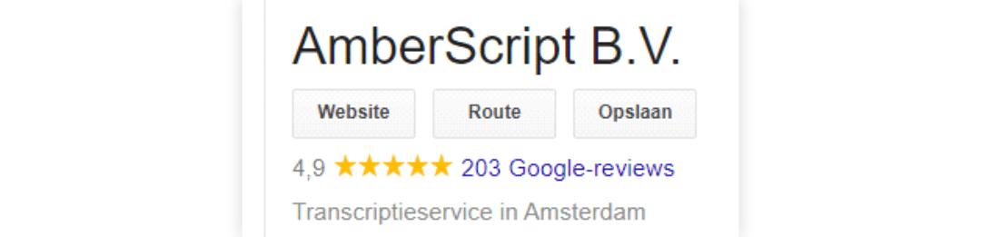 Amberscript Audio And Video Transcription Google Review