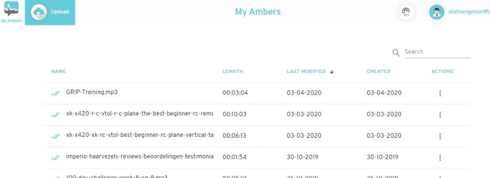 Amberscript Audio And Video Transcription Screenshot