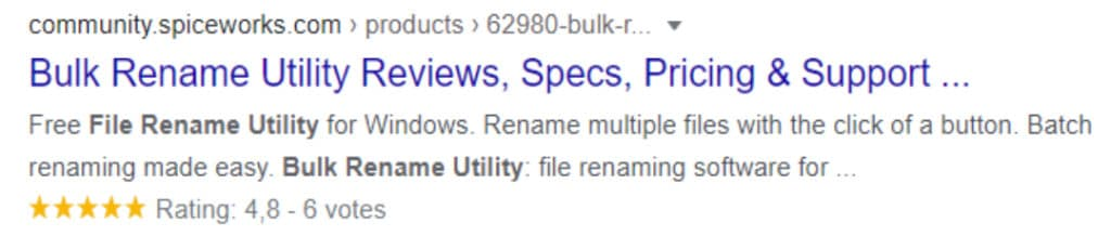 Bulk Rename Utility Reviews Image 3