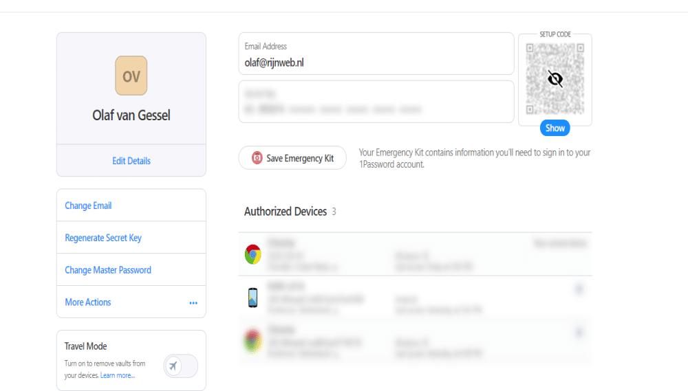 One Password Screenshot Image 1