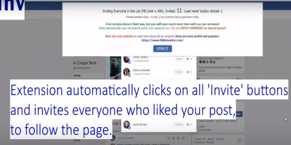 How to invite people to like a Facebook Page