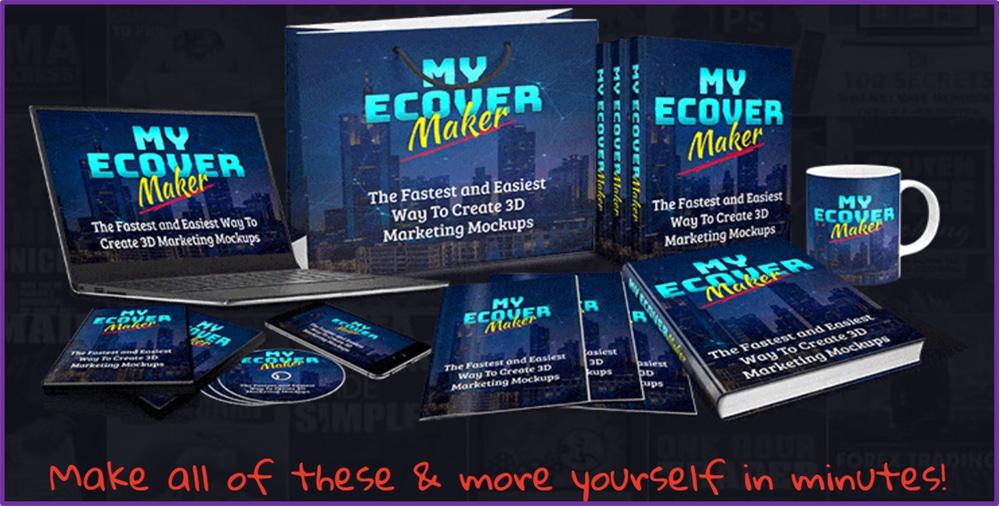 Myecovermaker 3d Book Mockup Generator