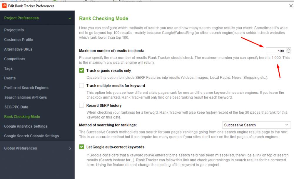 Serp Tracking Tool Screenshot Image 1