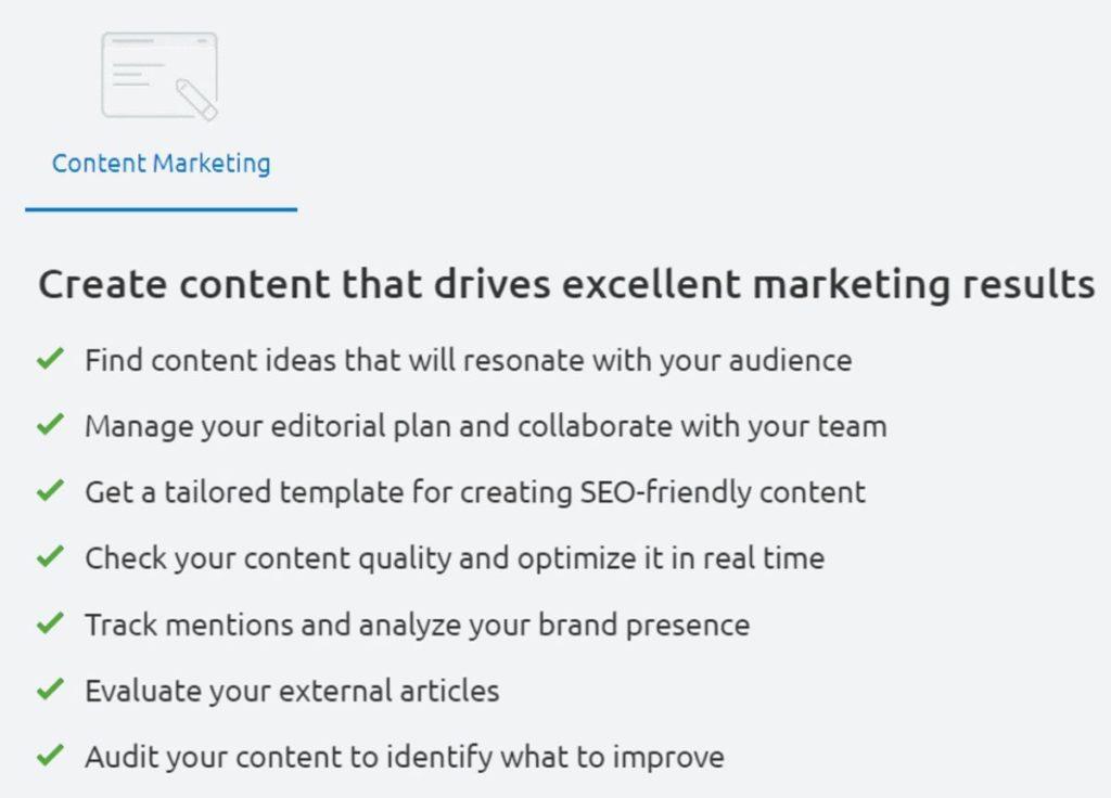 Semrush Content Marketing Tools