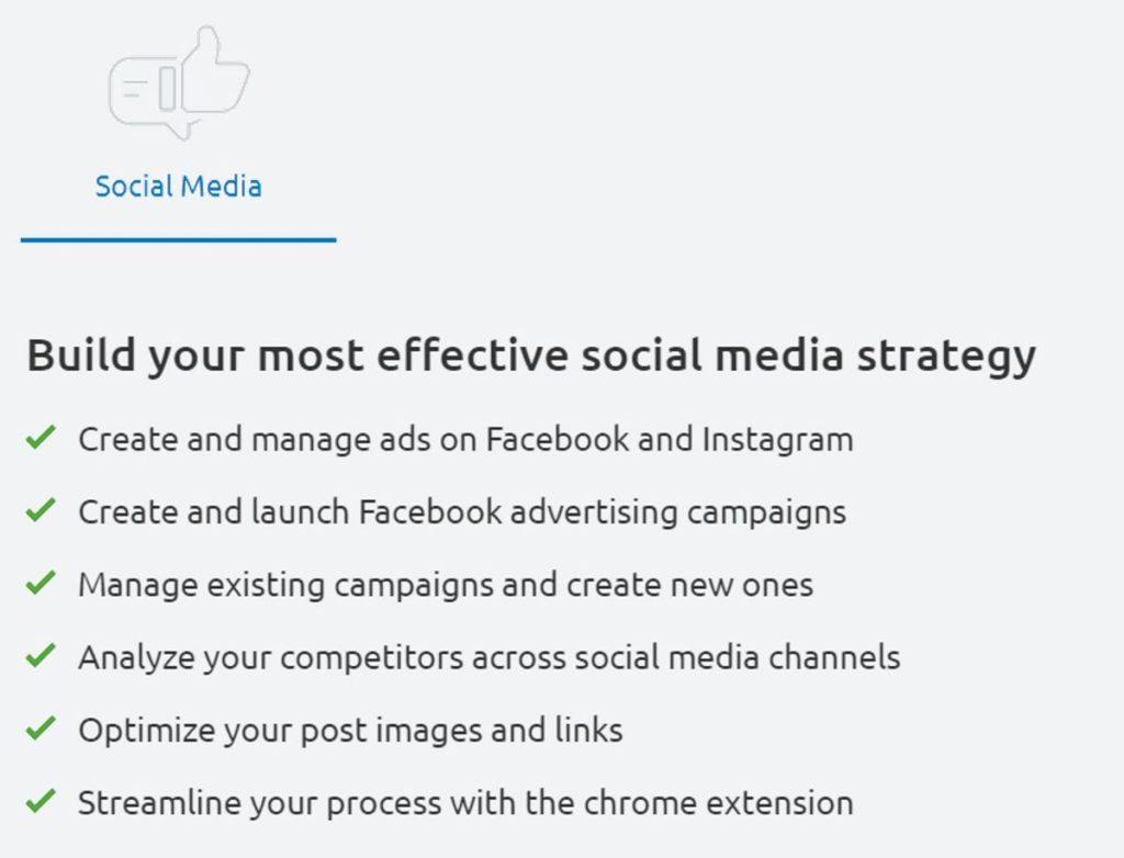 Semrush Social Media Tools